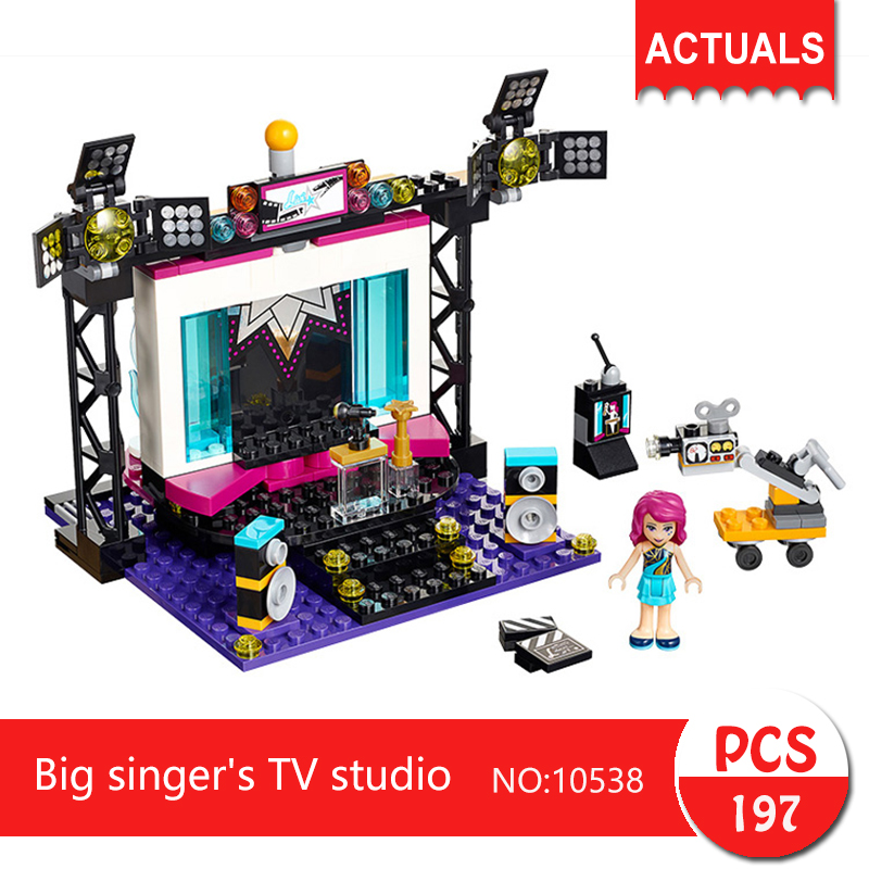 bela 10538 197Pcs Friends series Big singer s TV studio Building Blocks Bricks font b Toys