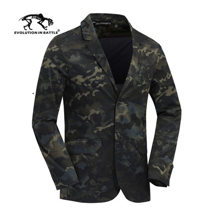 2019 New Men's Style Slim Fit Camouflage Business Waterproof Telfon Western-style Clothes Military Jackets USArmy Fans Tactical