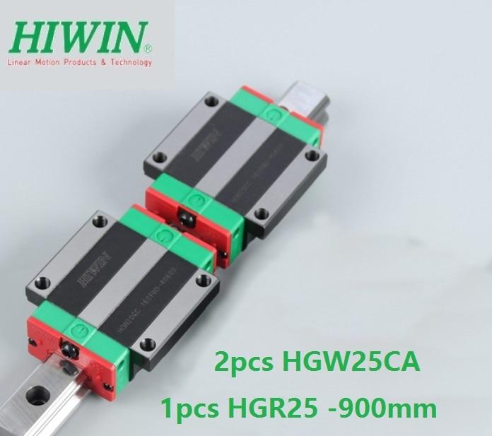 1pcs 100% original Hiwin linear rail guide HGR25 -L 900mm + 2pcs HGW25CA HGW25CC flanged carriage for cnc 1pcs 100% original Hiwin linear rail guide HGR25 -L 900mm + 2pcs HGW25CA HGW25CC flanged carriage for cnc