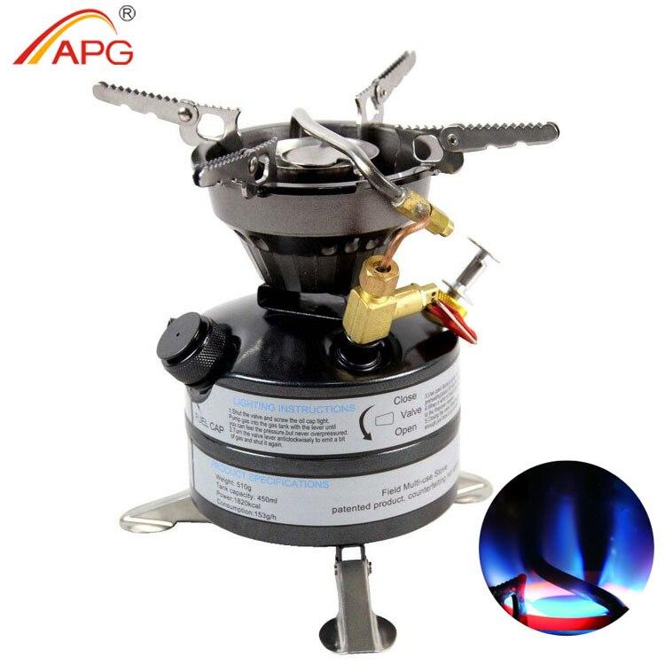 APG date mini extérieure multi carburant poêle et portable en plein air essence poêles