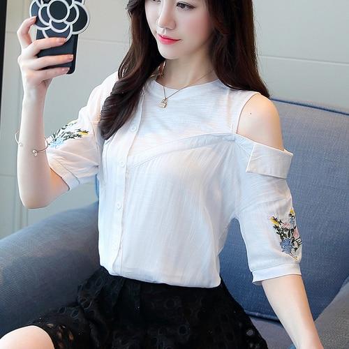 2018 New Spring Summer Fashion Women Women Shirt Short Sleeve Tide Female  Scheming Western Style Design Sense Small Fresh-in Blouses   Shirts from  Women s ... bdbe0c2caebd