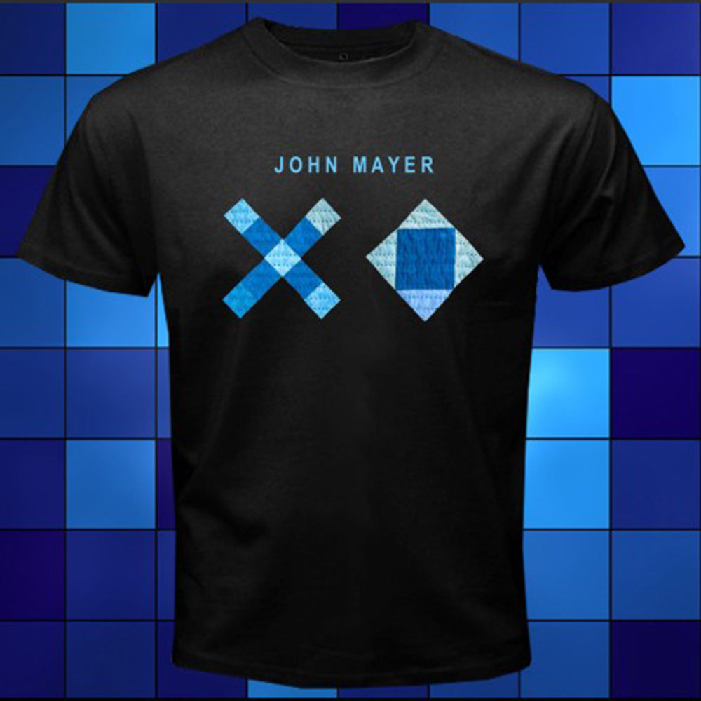 New John Mayer XO Music Logo Famous Singer Black T-Shirt Size S M L XL 2XL 3XL Printed T Shirts Short Sleeve Hipster Tee
