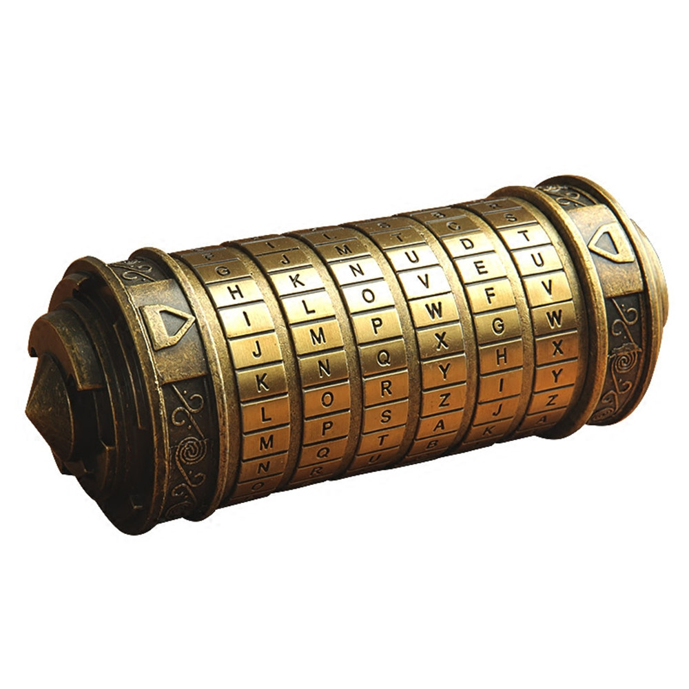 Leonardo Da Vinci Code Toys Educational toys Metal Cryptex locks gift to marry lover Password escape chamber props Educational educational toys metal cryptex locks gift ideas da vinci code lock to marry lover cryptex props get 2 free rings