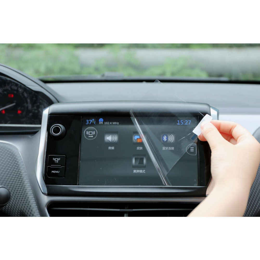 強化ガラススクリーンプロテクターフィルム Indash 2 喧騒車の Dvd の Gps 無線航法画面保護フィルムフィットプジョー 408