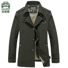 men long jacket spring autumn korean men's cotton casual windbreaker coat men's long popular 5XL men's clothing windbreaker