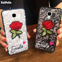 KaiNuEn luxury cute Fashion Sexy 3D Rose Flower PC Phone cover coque case for samsung galaxy s4 s 4 i9500 Woman Lace Back cases protective tpu pc back case w stand for samsung galaxy s4 i9500 red transparent