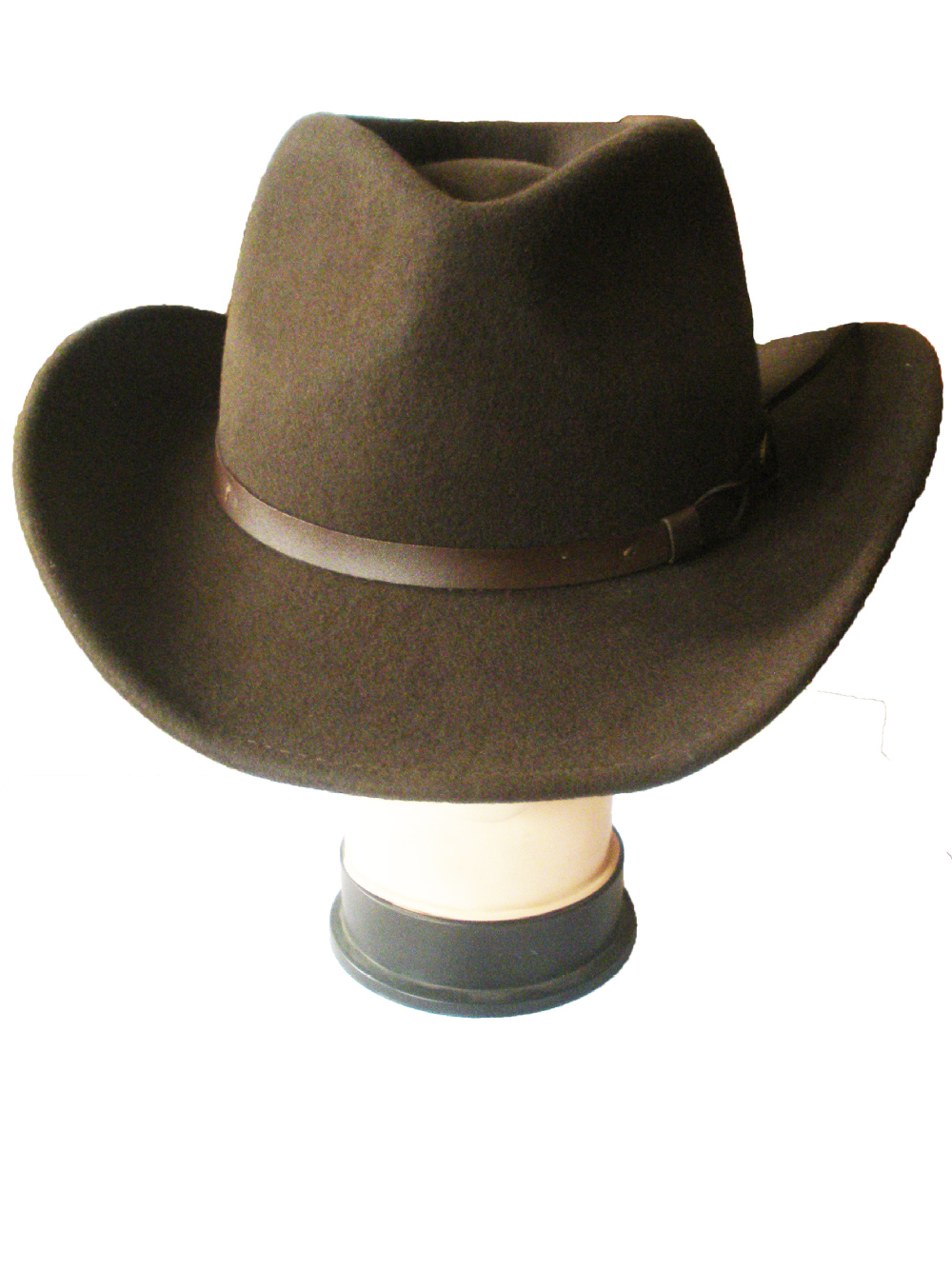 New Style Fashion Brown Felt Cowboy Hats For Men And