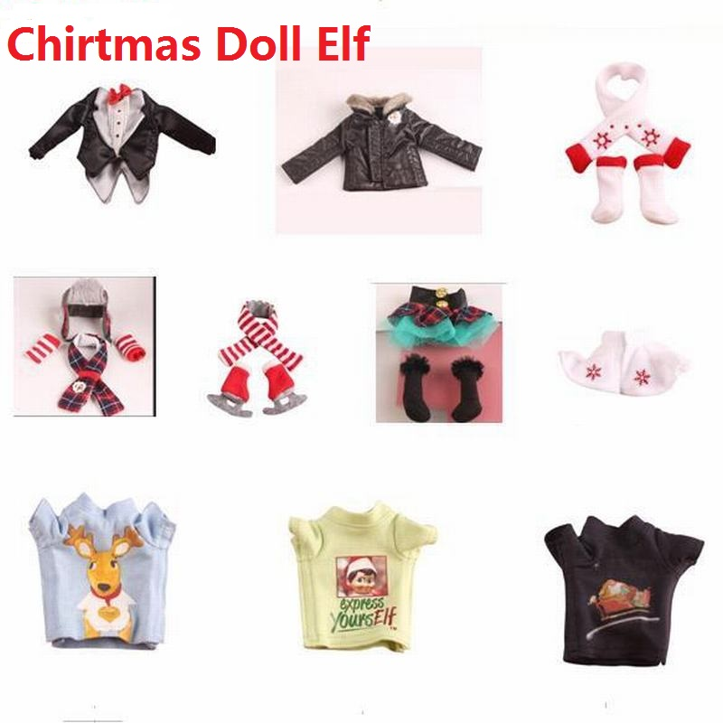 37cm Doll Elf Plush Dolls Toys Soft Book Clothes Gift Red Boy Girl Doll On The Shelf Christmas Toys For Kid Children Toy