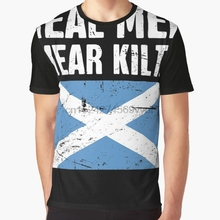 8bbd1a8f All Over Print Women T Shirt Men Funny tshirt Scottish Flag Real Men Wear  Kilts Graphic