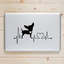 Chihuahua PUPPY Anjing Detak Jantung Laptop Decal Stiker untuk Macbook Pro Udara Retina 11 12 13 14 15 Inch MAC BOOK kulit Notebook Stiker(China)