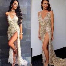 2017 новая мода сексуальное платье Глубокий v-образный вырез Длинные платья