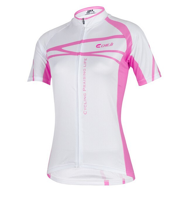 New-Pink-White-Cycling-Wear-Team-CHEJI-Women-Cycling-Jersey-Short-Sleeve-Pants-Girl-s-Fashion (4)