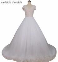 Vestidos De Novia Sexy See Through Bead Lace Bodice Wedding Dress Bruidsjurken Chapel Train Abiti Da