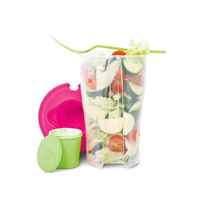 Fresh Salad Container Serving Lunch Cup With Fork Set Vegetable Fruit Salad Outdoor Sport Diet Salad Tools
