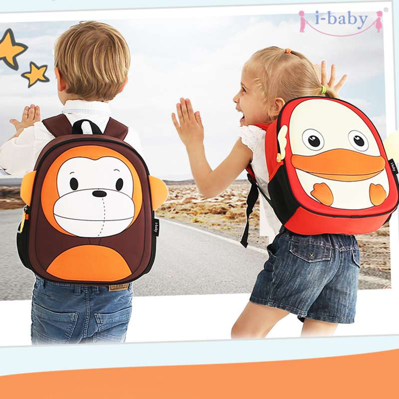 i-baby 3D Animal Design Kids Backpack Waterproof Schools Baby Toddler Kindergarden Carry Bag, Ages 2+, Owl,2 Colors