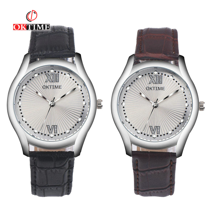 OKTIME 2020 Luxury Brand Lover Watch Men Women Couples Lovers Leather Quartz Watch NEWFashion WristWatch Relogio Feminino