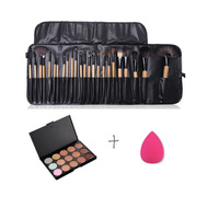 MSQ 24 Pcs Premiuim Makeup Brush Set High Quality Soft Nylon Professional Makeup Brush Tool
