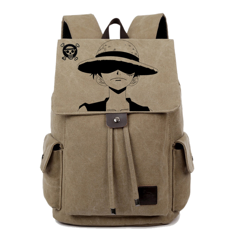 Anime One Piece Cosplay Student bag college wind shoulder bag men and women backpack graffiti canvas bag free ship gou matsuoka long wine red women style anime cosplay wig one ponytail 370f