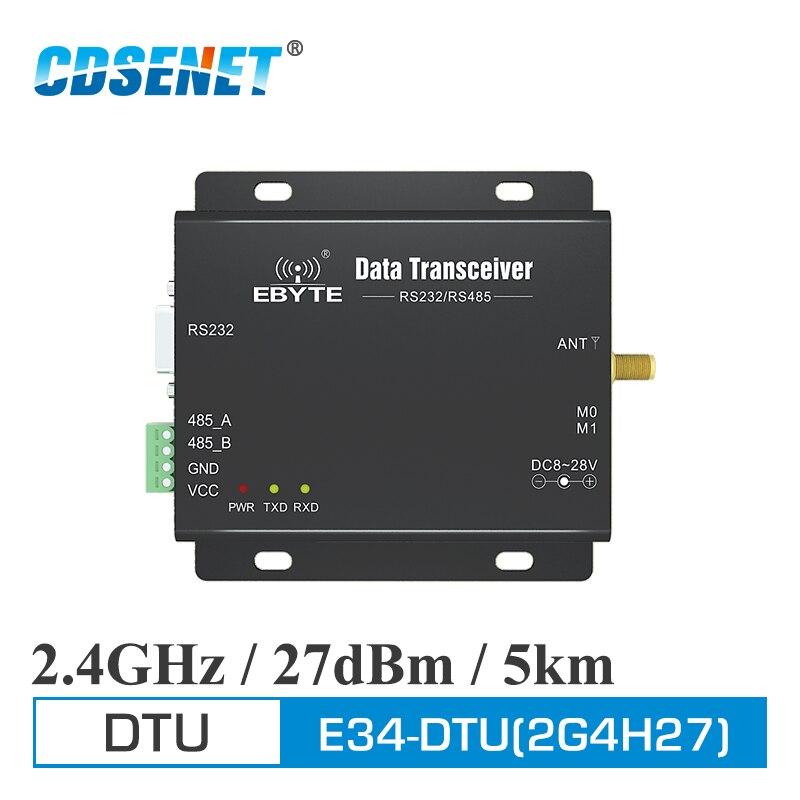 Sem Fio de longo Alcance Transceptor CDSENET IoT E34-DTU-2G4H27 RS485 RS232 DTU Modem uhf Módulo Transceptor RF de 2.4 ghz Sem Fio