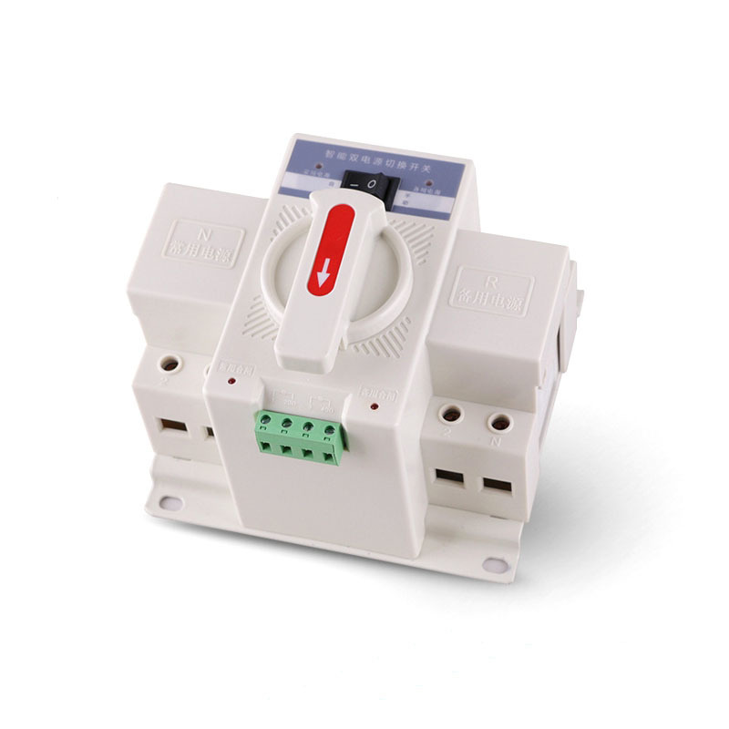 2P 63A Automatic transfer Change-over Mini Type Both Power Supply Switch Device circuit breaker lw26 63 2gs universal change over switch