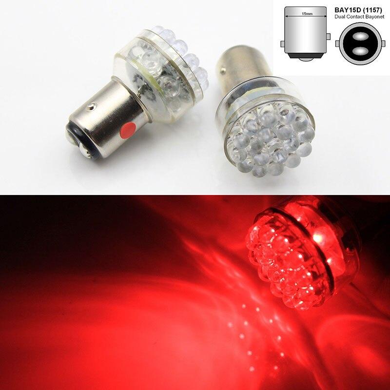 2017 New 2x 24 LED 6V Red Car Bulb 1157 bay15d Light Stop/Tail/Stop/Reverse Lamp AC/DC автоинструменты new design autocom cdp 2014 2 3in1 led ds150