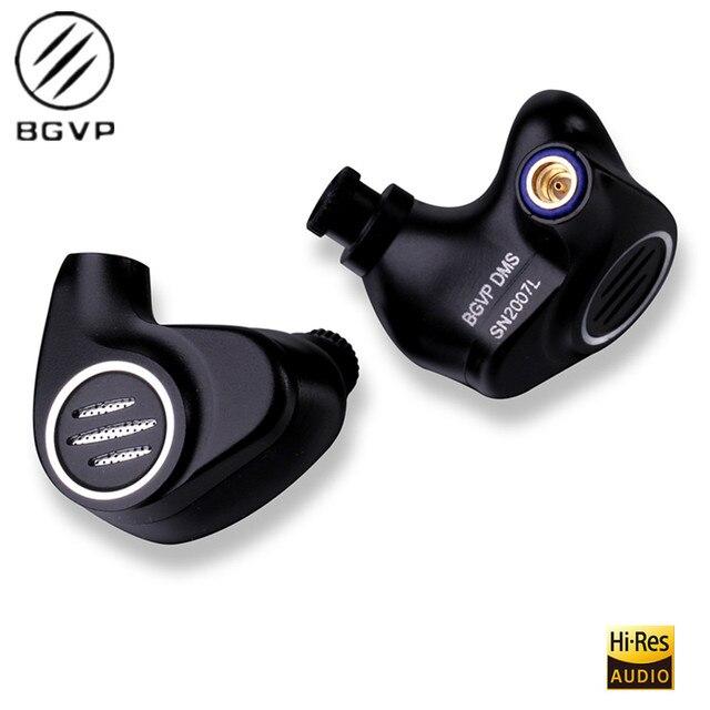 BGVP DMS 1DD+6BA  6BA+1DD Hybrid In Ear Earphone HiFi Monitor IEM Metal Audiophile Earbuds DMG DM6 DM7 DS1 DX3 AS16 T2 ZS10 2