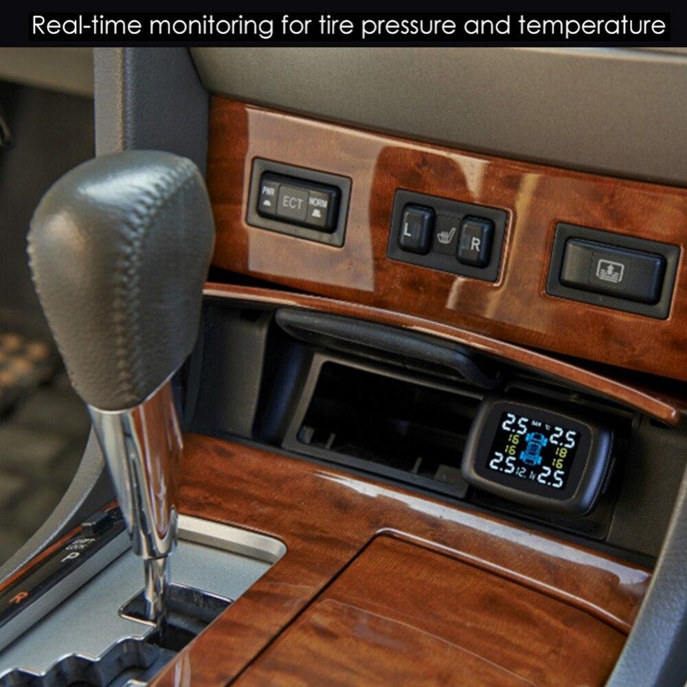TP620 système de surveillance de la pression des pneus numériques 12 V TPMS alarme de pression des pneus alarme de pression des pneus chargeur de voiture capteur de pression des pneus - 3