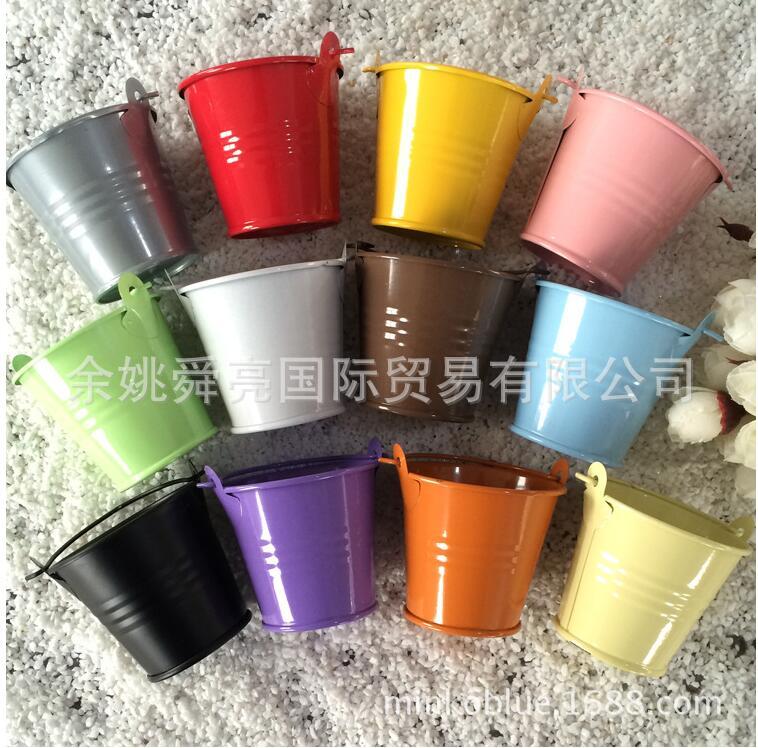 Mini boîte créative demballage tambour en fer   Boîte pour fête mariage, ornements boîte cadeau, Pots de fleurs, accessoires de décoration de table