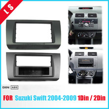 1 Or Double Din Fascia for SUZUKI SWIFT 2005-2010 DVD Panel Dash Mounting Trim Kit Frame Bezel , Car Refitting 1DIN / 2DIN цена