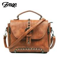 ZMQN Women Messenger Bags 2017 Vintage Bag Ladies Famous Brand Crossbody Bag For Women Rivet Small