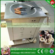 Free shipping 110V fried ice cream roll machine single pan,fry ice cream machine ice pan 48cm size