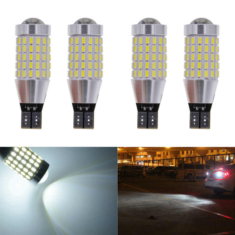 katur 4pcs T15 Size W16W Base Led CANBUS No Error For Reverse Backup Light Bulb Auto Accessories US trade # 921 W2.1 x 9.5d Lamp