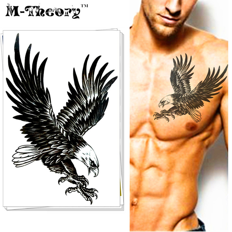 M-Theory Waterproof Temporary Tattoo Body Arts Airforce Top Gun Eagle Flash Tatoo Sticker Army Tatuagem Swimsuit Makeup Tools