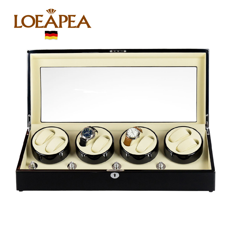 HIGH END Watch winder 8 + 9 Automatic watches chain winder trä Reel - Tillbehör klockor - Foto 5