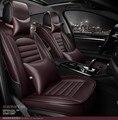 Para TOYOTA Corolla RAV4 Yaris Highlander PRADO Prius Camry cuero cubierta delantera y trasera conjunto Completo de coche asiento de coche cojín cubierta