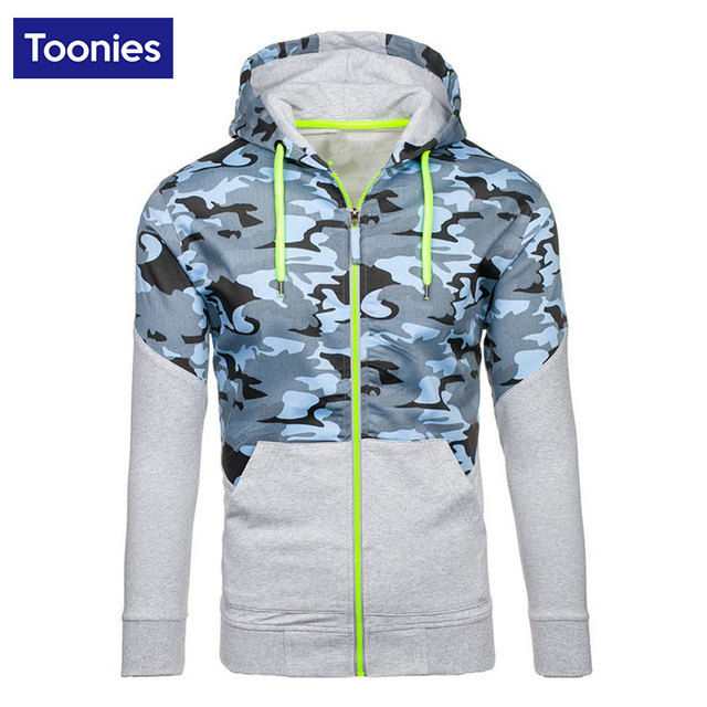 New Camouflage Men Sweatshirt Patchwork Hooded Hoodies Color Block Mixed Top Sweatshirts Tracksuit Outdoors Military Outerwear