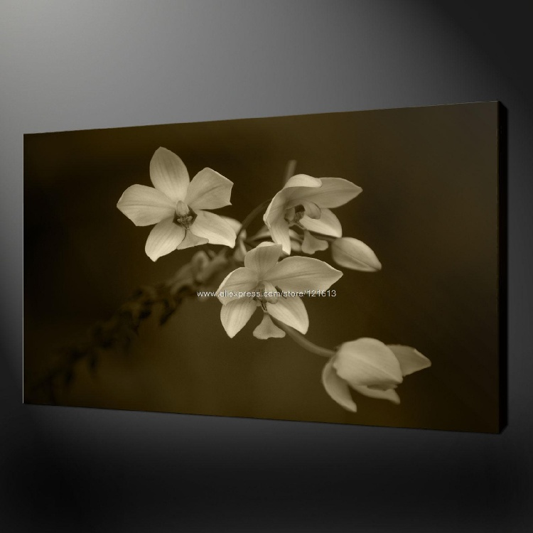 White Flowers Premium Quality Canvas Wall Art Modern Oil Paintings Impression Techniques Large Acrylic Children In Painting Calligraphy From