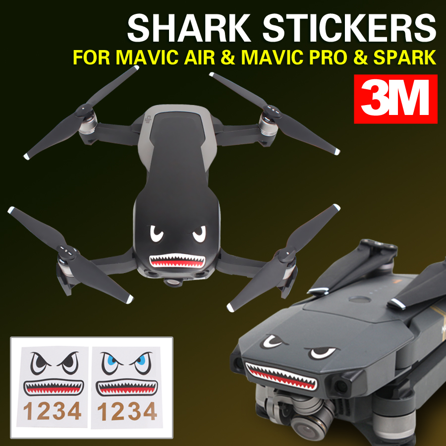 Best Mavic Pro Shark Skin Image Collection Dji Skins Usaf 3m Stickers Face Decals Smarthpone For Spark Air