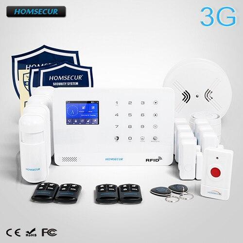 HOMSECUR Wireless LCD 3G/GSM RFID SMS Autodial Burglar Intruder Alarm System LA02-3G