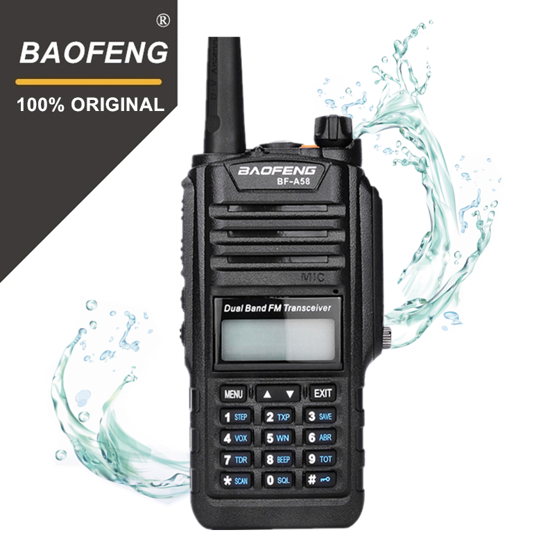 100% D'origine Baofeng BF-A58 Flash Lumière IP67 Étanche Telsiz 10 km Deux Way Radio Comunicador Baofeng Uv-9r Plus Talkie Walkie