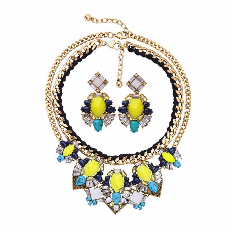 Joolim Jewelry Wholesale Trendy Jewelry Set American & European Style Jewelry Statement Necklace Earring Set Daily Jewelry