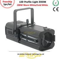 Litewinsune FREESHIP 200W ZOOM DMX LED Profile Stage Lighting 17 50degree Beam Angle Warm White Cold White