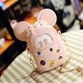 Ellacey 2016 Niñas Messenage Bolso Lindo Bolso Crossbody de la Mini Historieta Encantadora Mickey Baby Girl Escuela Mochilas escolares De Kindergarten niños