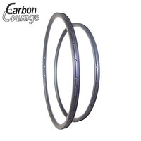 Mtb Carbon Rims Asymmetric 29er Rim 29 Carbon 35mm Wide Lightweight 430g 29er XC Hookless Mountain Carbon Rims UD Matte 28 32H