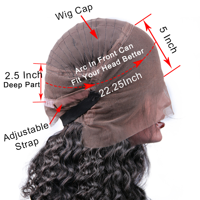 Hot Beauty Hair 360 Lace Frontal Wig Breathalbe Water Wave Wig Pre Pluck With Baby Hair Brazlian Remy 100% Human Hair Lace Wigs (8)