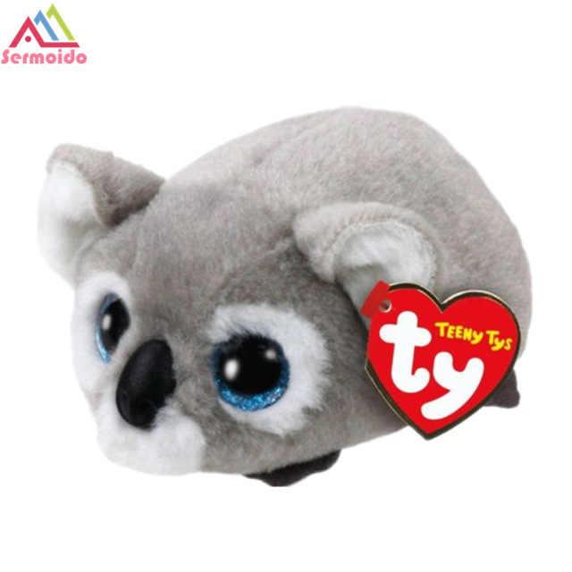 71c9fa60281 ... sermoido TY Beanie Boo Teeny Tys Plush Blue Owl 9cm Original Ty Beanie  Boos Big Eyes ...
