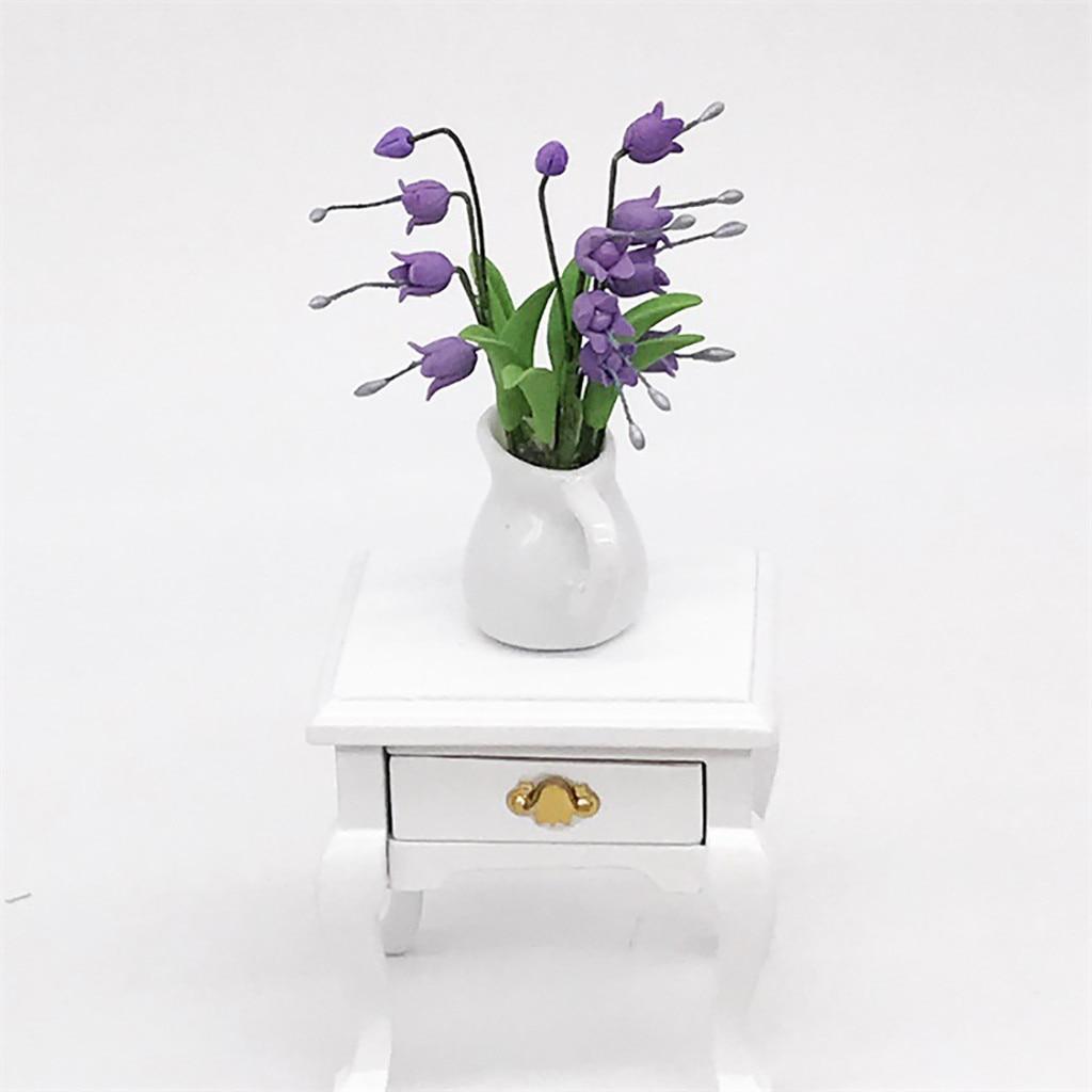 Fairy-Garden-Accessory Flower Miniature Green-Plant 1:12 In-Pot Fake