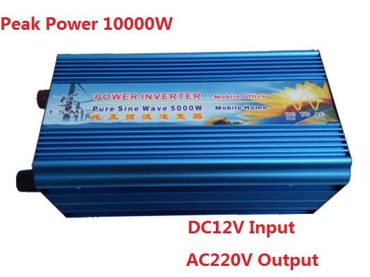 Peak power up to 10000W inverter Off Grid 5000W DC12V to AC110V/220V Pure Sine Wave Power Inverter Solar & Wind Inverter 3000w wind solar hybrid off grid inverter dc to ac 12v 24v 110v 220v 3kw pure sine wave inverter