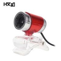 HXSJ A860 HD cámara Web píxeles CMOS USB cámara Digital vídeo HD micrófono incorporado 360 grados Rotaion Clip cámara