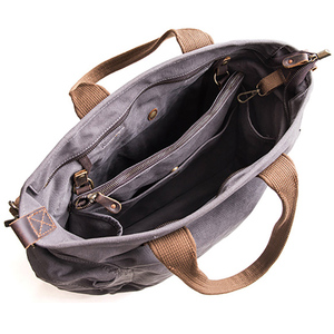 Image 4 - AETOO Separated design sub mother canvas bag A packet of dual use male oblique carry large capacity special bag